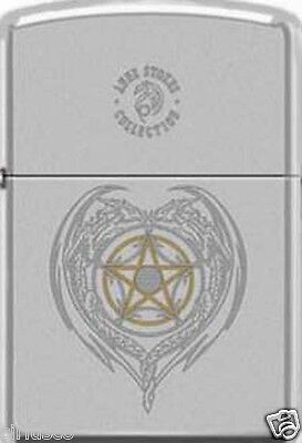 5 Point Star Symbol Engraved by Anne Stokes Artist Zippo Lighter