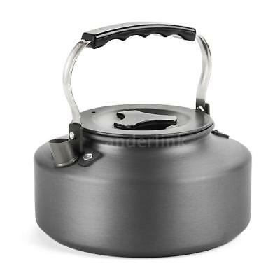 1.1L Outdoor Hiking Camping Picnic Water Kettle Teapot Coffee Pot Anodised T3D9