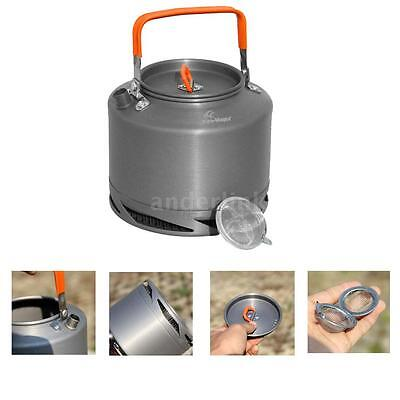 1.5L Heat Collecting Exchanger Kettle Tea Coffee Pot Cookware Drawstring T4H6