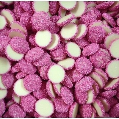 Pink Speckles On White Chocolate 1Kg Freckles Lollies Choc Candy Freckles