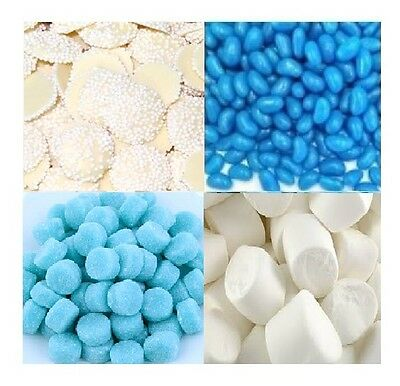 DIY Candy Bar Buffet Blue & White - Bulk Lollies Lolly Wedding Party 3.5kg