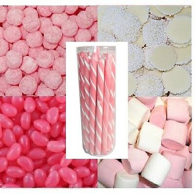 DIY Candy Bar Buffet Pink & White - Bulk Lollies Lolly Wedding Party 4KG