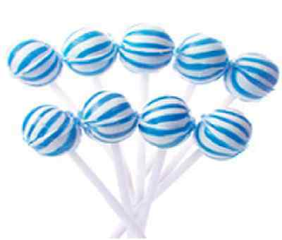 50 Blue & White Ball Pops Lollipops Candy Buffet Lollies Frozen Theme