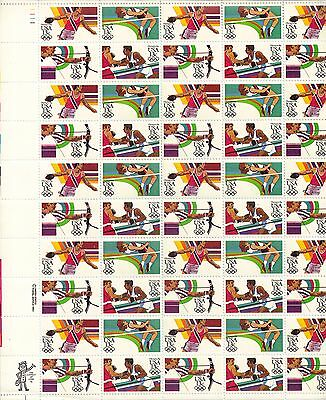 USA-United States 1983 13c Postage 1984 Summer Olympics Sheet Scot 2048-51 MNH