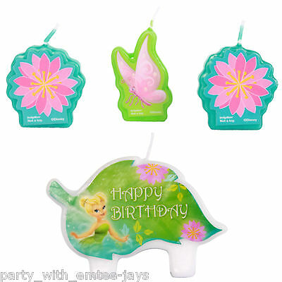 Tinker Bell Candles - Birthday - Moulded - Aust Seller - Tinkerbell Fairies