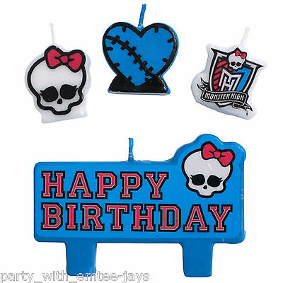 Monster High Candles - Birthday - Moulded - Aust Seller - Party Supplies