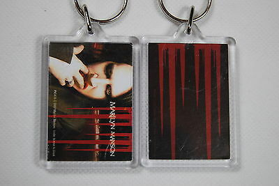 Marilyn Manson Face Plastic Keychain Keyring New Official Mechanical Animals