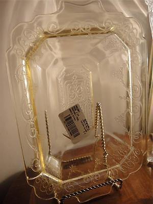 Vintage Depression Glass INGLORY 9 3/4 Oval Vegetable Indiana Lorain Yellow
