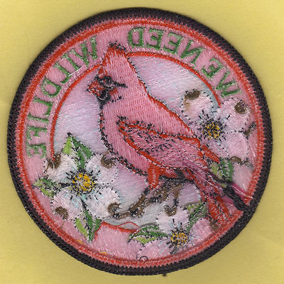 Pa Pennsylvania Game Commission Red Back We Need Wildlife Male Cardinal Patch