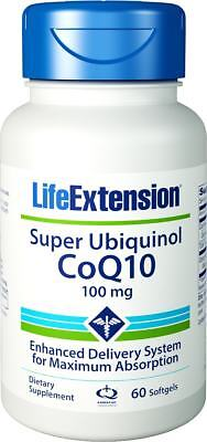 Life Extension, Super Ubiquinol CoQ10 Co-Enzym, 100mg, 60 Softgels