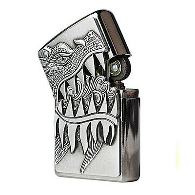 Zippo Fire Breathing Dragon Brushed Chrome USA Genuine Classic Windproof Lighter