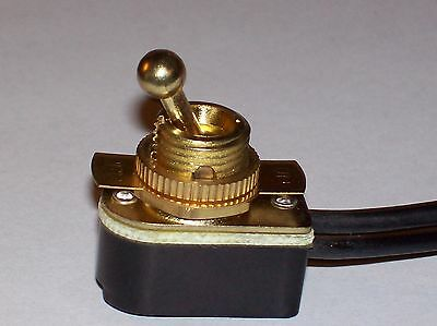 On/off Brass Toggle Canopy Switch Lamp Part New 31150K