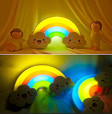 HOT LED Rainbow Projector Room Night Light Color Lamp Magic Romantic for Kids