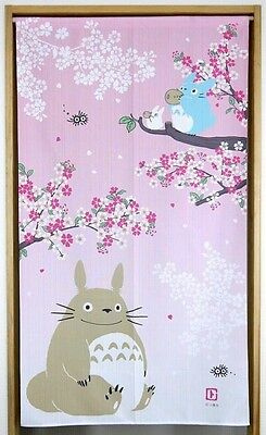 Studio Ghibli My Neighbor Totoro Spring Sakura Noren Japanese Curtain Japan Made