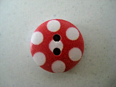 Red Spot Buttons - 10 Pack