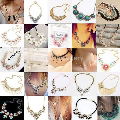 New Fashion Pendant Chain Crystal Choker Chunky Statement Bib Necklace Jewelry