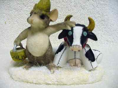Charming Tales Mouse Figurine Farmer McKenzie  Signed Autographed  by Dean Griff