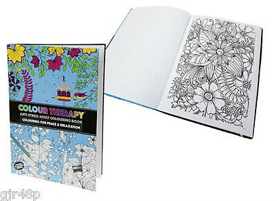 Colour Therapy Anti-Stress Adult Colouring Book - Art Book Peace Relaxtion