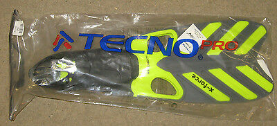 New Pair Tecnopro X-Force Yellow Diving Fins Flippers size 40/41 - UK size 6-7