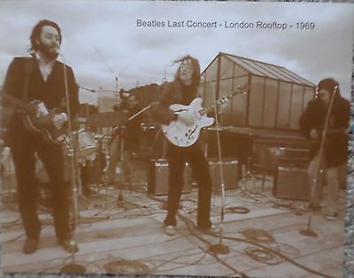 The Beatles Last Concert on a London Rooftop in 1969 Sepia Poster