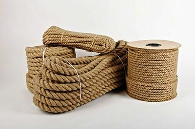 High Quality100% Natural Jute Hessian Rope Twisted Braided Decking Garden Boatin