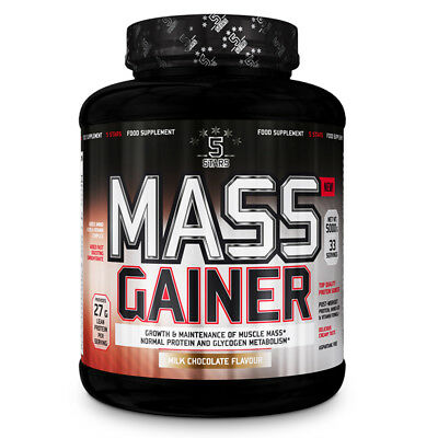 5 STARS MASS GAINER 5 KG Cioccolato al Latte