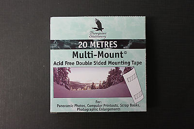 Multi-Mount Acid Free Double Sided Mounting Tape White 12mm x 20m TR2000