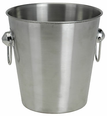 3L Brushed Stainless Steel Ice Bucket Wine Cooler Champagne Cooler