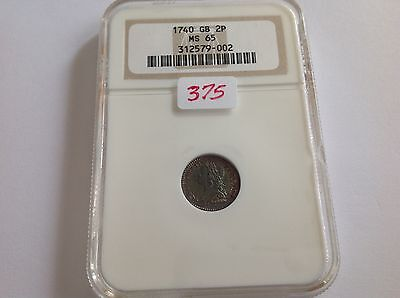 1740 Great Britain 2P NGC MS 65