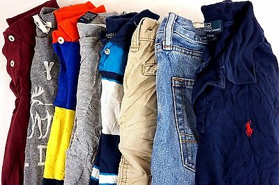 Abercrombie Lot of 8 Kids Boys Polo Shirts, Shorts, Jeans Large L 14/16 [BF8156]