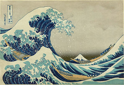 A3/A4 Size  - Great Wave of Kanagawa Giant -  VINTAGE ART PRINT POSTER  - # 4