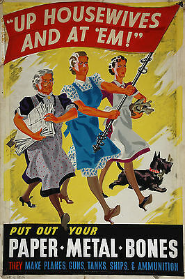 A3/A4 Size -  UP HOUSEWIFE AND AT EM WORLD WAR 2 VINTAGE ART PRINT POSTER  # 4