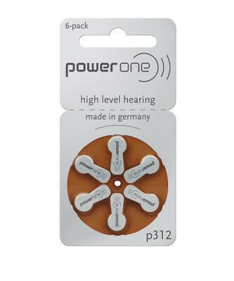 NEW Power One Hearing Aid Batteries p312 (size 312) from Hearing Savers