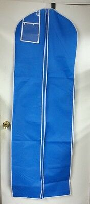 5-Brand New Blue w/ White Trim Breathable Bridal Gown Dress Garment Bag