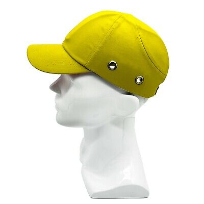 86b7ff2f6187a Yellow Baseball Bump Caps - Lightweight Safety hard hat head protection Caps