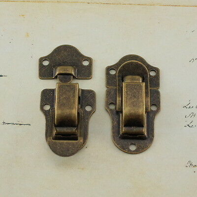 Toggle Catch Latch Case Chest Box In  (Lot of 2) Antique Brass