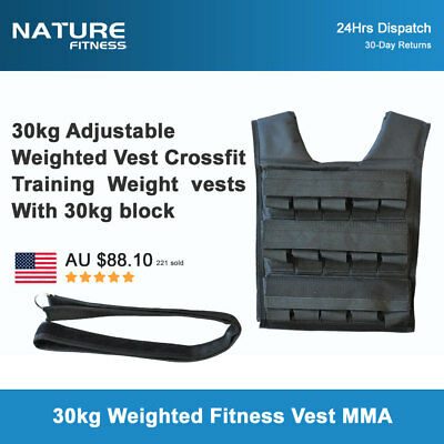 30kg Adjustable Weighted Vest Crossfit Training MMA Gym Weight Training vests