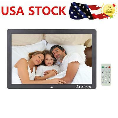 "17"" 1080P LED Digital Photo Picture Frame Alarm Clock MP3/4 with Remote Control"
