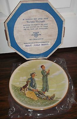 Norman Rockwell Four Seasons Collector Plates By Gorham 1976 Mib!