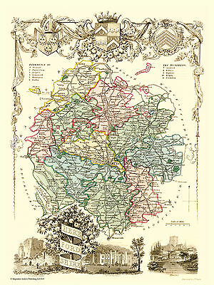 County Map Of Herefordshire 1836 By Thomas Moule