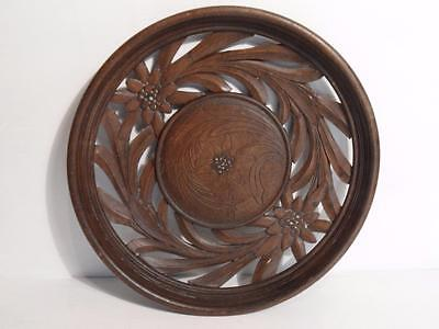 Carved wooden plate Decorative  FREE UK P & P