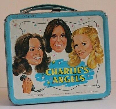 Vintage Metal Lunchbox W/plastic Thermos 1978-79 Charlies Angels