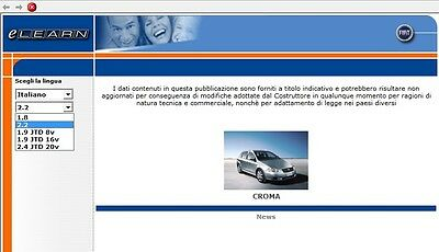 Manuale Officina Fiat Nuova Croma Workshop Manual Service   Software Elearn