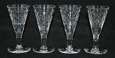 "Webb Corbett Crystal - 4 x 4 1/2"" Sherry Glasses - vgc"
