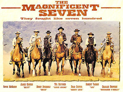 A3/A4 Size - THE MAGNIFICENT SEVEN 1960 MOVIE CLASSICAL FRENCH ART POSTER  # 10