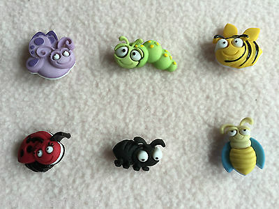 Dress It Up Buttons ~ Bug Eyed ~ Bee ~ Ladybird ~ Caterpillar ~ Ant ~ Butterfly