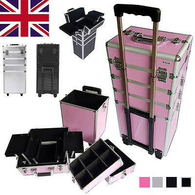 4 in 1 Aluminium Cosmetic Trolley Case Vanity Professional Make Up Beauty Box
