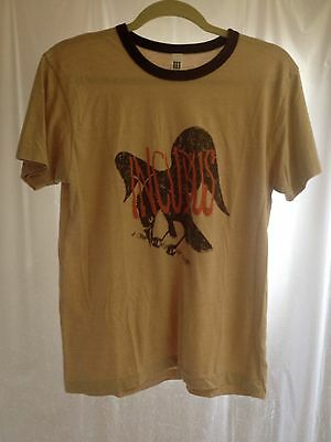 INCUBUS T shirt tee ringer brown sz. Medium M ~ A Crow Left of the Murder...