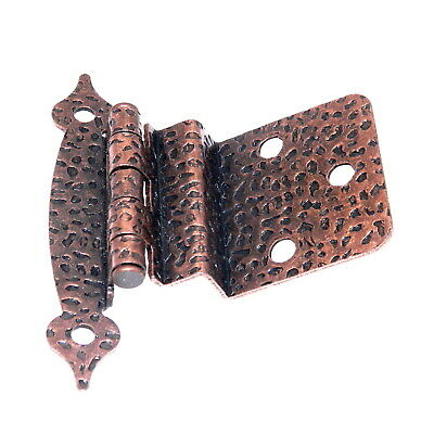 "Pair of Hickory Hardware Antique Copper 3/8"" Inset Cabinet Hinges P105-AC"