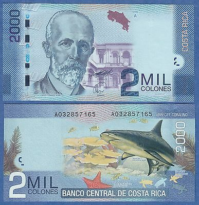 Costa Rica 2000 Colones P 275 2009 UNC Low Shipping! Combine FREE!